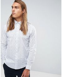 Casual Friday - Shirt In Ditsy Floral Print - Lyst