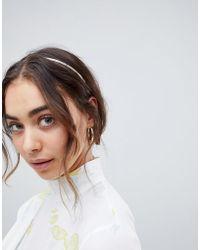 ASOS - Minimal Headband In Rose Gold - Lyst