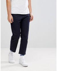 Lindbergh - Linbergh Raw Indigo Cropped Jeans - Lyst