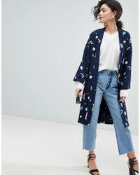 SELECTED - Printed Kimono - Lyst