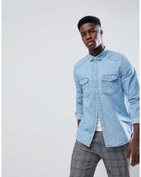 Weekday | Coy Denim Shirt S Blue | Lyst