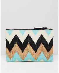 Essentiel Antwerp - Contrast Sequin Clutch Bag - Lyst
