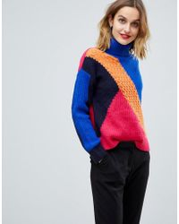 Esprit - Mixed Knit Colourblock Jumper - Lyst