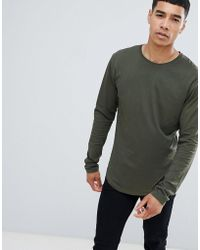 Only & Sons - Long Lined Top - Lyst