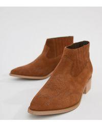 Vero Moda - Leather Boot - Lyst