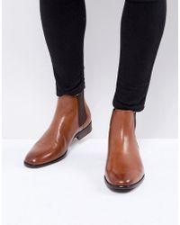 ALDO - Aradowen Leather Chelsea Boots In Tan - Lyst