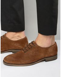 SELECTED - Bolton Perforated Shoes - Lyst