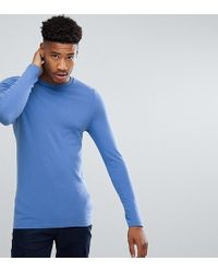 ASOS - Tall Long Sleeve Muscle Fit T-shirt With Crew Neck - Lyst