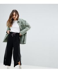 Reclaimed (vintage) - Inspired Drawstring Crop Trouser With Side Stripe - Lyst