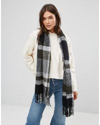 ONLY - Knitted Scarf With Tassel Detail - Lyst