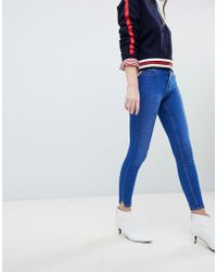 New Look - Jenna Skinny Jean With Frayed Hem - Lyst