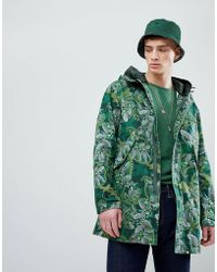 Pretty Green - X Katie Eary Cassidy Parka Jacket In Green - Lyst