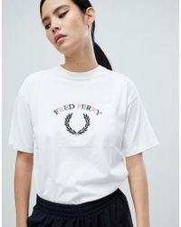Fred Perry - Laurel Wreath Logo T-shirt - Lyst