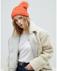 Miss Selfridge - Exclusive Pom Pom Cable Beanie - Lyst