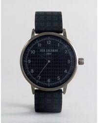 Ben Sherman - Wb075bur Watch In Black Silicone - Lyst