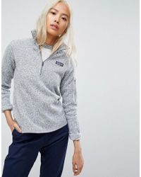Patagonia - Better Jumper Half Zip Jacket In Grey - Lyst