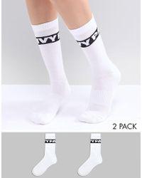 Ivy Park - Logo Crew Socks 2pk In White - Lyst