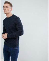New Look - Waffle Knit Jumper In Navy - Lyst