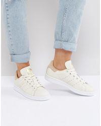 adidas originali originali biancastro stan smith scarpe con tan