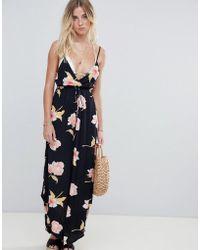 Billabong - Floral Print Cami Beach Dress - Lyst