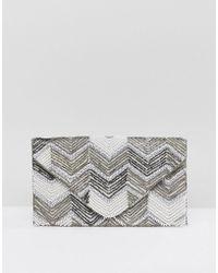 New Look - Beaded Envelope Clutch Bag - Lyst