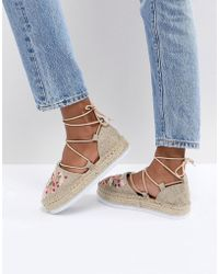 ASOS - Julina Embroidery Espadrilles - Lyst