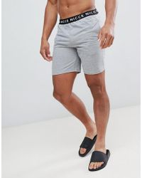 Nicce London - Nicce Lounge Shorts In Gray With Waistband - Lyst
