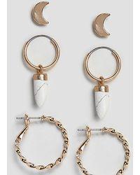 Reclaimed (vintage) - Inspired Multi Stud & Hoop Earring Pack - Lyst
