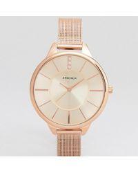 Sekonda - Mesh Watch In Rose Gold Exclusive To Asos - Lyst