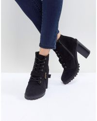 Faith | Lace Up Mid Height Hiker Boot | Lyst