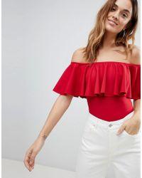 Ivyrevel - Bardot Bodysuit In Heavy Jersey - Lyst