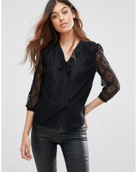 Madam Rage - Lace Pussy Bow Blouse - Lyst