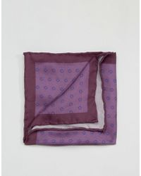 Original Penguin - Printed Silk Pocket Square - Lyst