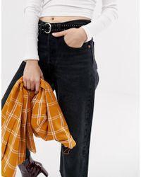 Pieces - Lia Studded Belt - Lyst