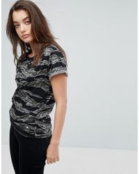 G-Star RAW - Knotted Camo T-shirt - Lyst