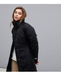 The North Face - Womens Arctic Parka Ii In Black - Lyst