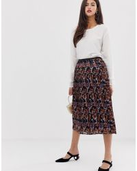 9b1ec2cbd Y.A.S Floral Embroidered Sheer Mini Skirt in Black - Lyst