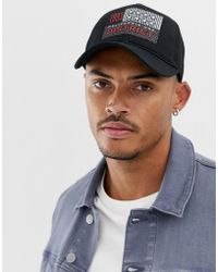 ASOS - Trucker In Black With Badge Detail - Lyst