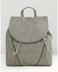 Pieces - Clean Double Zip Backpack - Lyst