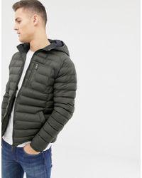 Threadbare - Lightweight Puffer Jacket With Hood - Lyst