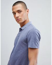 SELECTED - Overdye Polo Shirt - Lyst