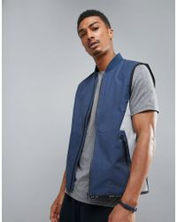 Perry Ellis - 360 Running Gilet Bonded Thermal In Navy - Lyst