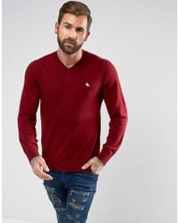 ccbce715b8f Men's Abercrombie & Fitch V-neck jumpers Online Sale - Lyst