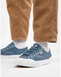 Huf - Classic Lo Trainers In Blue Suede - Lyst