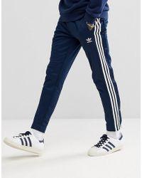 adidas Originals - Adicolor Popper Joggers In Navy Cw1285 - Lyst