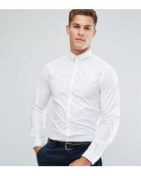 Noak - Skinny Shirt With Bluff Collar - Lyst