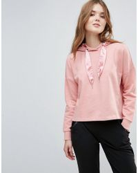 ONLY - Beatrice Sateen Pullers Hoody - Lyst