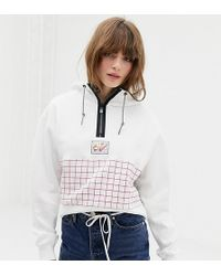 Nike - Archive White Graphic Cropped Hoodie - Lyst