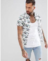Blend - Short Sleeve Shirt In Surf Print - Lyst