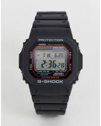 G-Shock 5600 - Montre digitale avec boîtier rouge noir